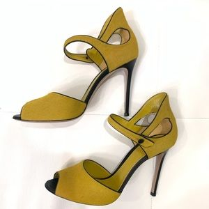GIANVITO ROSSI Pony Hair Heels Sz 41
